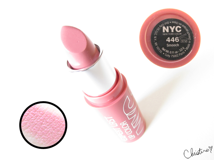 NYC New York Color Expert Last Lipstick Swatch Review 446 Smooch