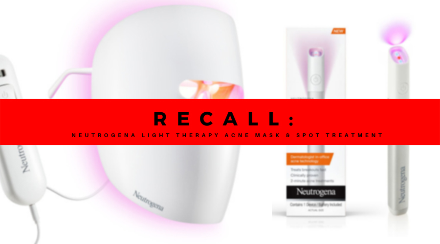 RECALL: Neutrogena Light Therapy Acne Mask and Spot Treatment Activator