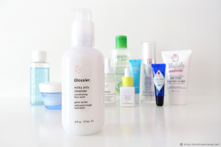 Updated Nightly Skin Care Routine Review featuring Second Cleanse Glossier Milky Jelly Cleanser