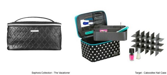 How to Organize Your Nail Polish Collection Different Ways Sephora Collection The Vacationer, Target Caboodles Nail Case