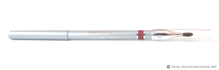 Pur Minerals Mineral Lip Liner Pencil with Lip Brush Ruby Review