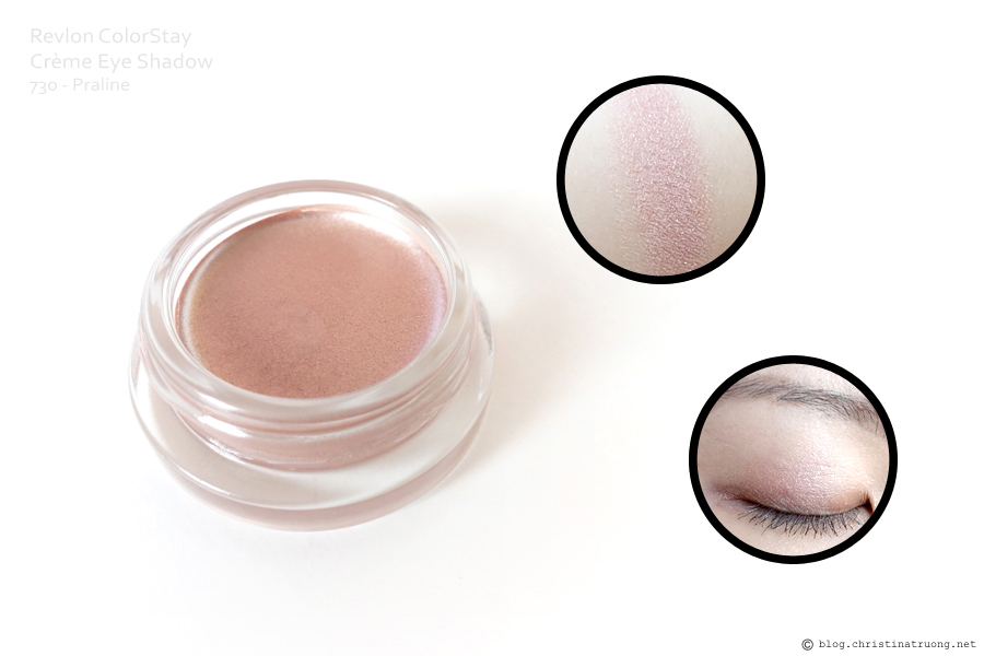 Revlon ColorStay Creme Eye Shadow Review Swatch in 730 Parline