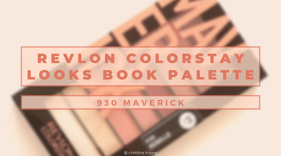 Revlon ColorStay Looks Book Eye Shadow Palette in 930 Maverick Rebelle Review and Swatches