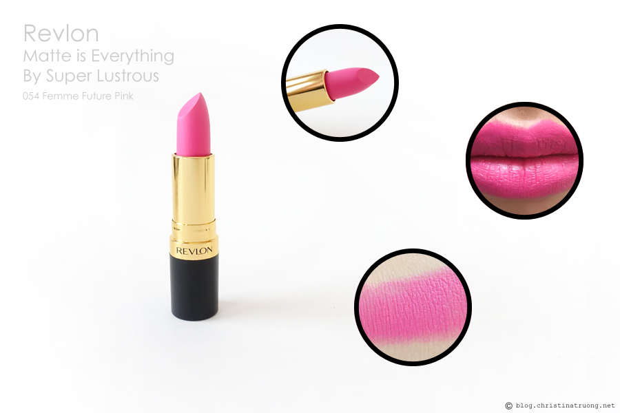 Revlon Matte is Everything By Super Lustrous 054 Femme Future Pink Review and Swatch