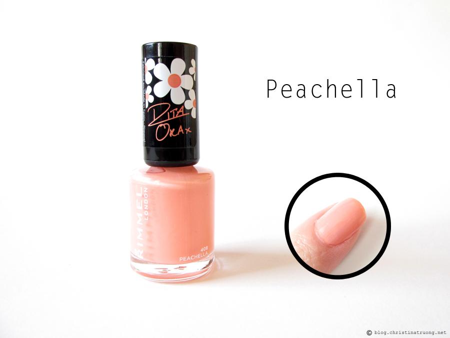 408 Peachella - Rimmel London 60 Seconds Super Shine Nail Polish by Rita Ora Collection