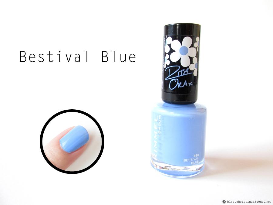860 Bestival Blue - Rimmel London 60 Seconds Super Shine Nail Polish by Rita Ora Collection