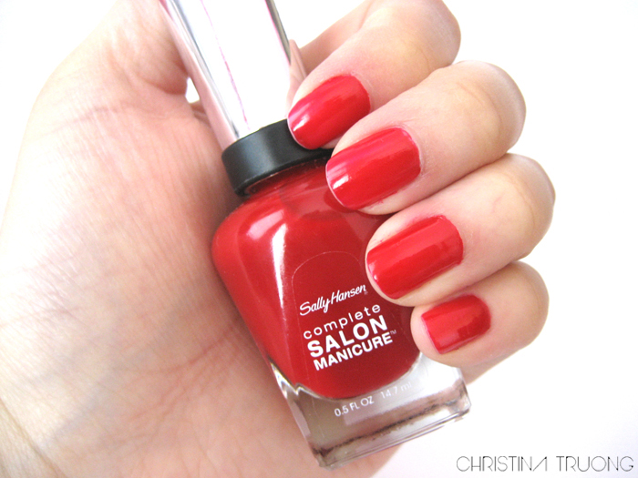 Sally Hansen Complete Salon Manicure Nail Polish 470 Red My Lips