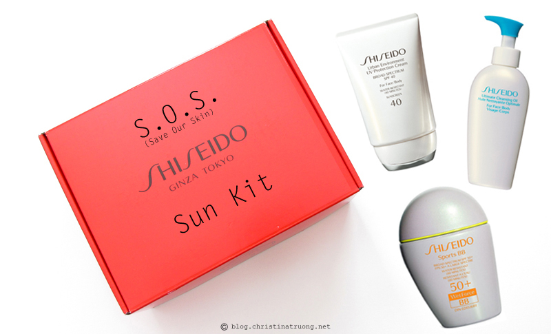 Shiseido S.O.S. (Save Our Skin) Kit featuring Shiseido Sports BB Broad Spectrum SPF 50+ WetForce in Dark, Shiseido Ultimate Cleansing Oil, Shiseido Urban Environment UV Protection Cream SPF 40 Review