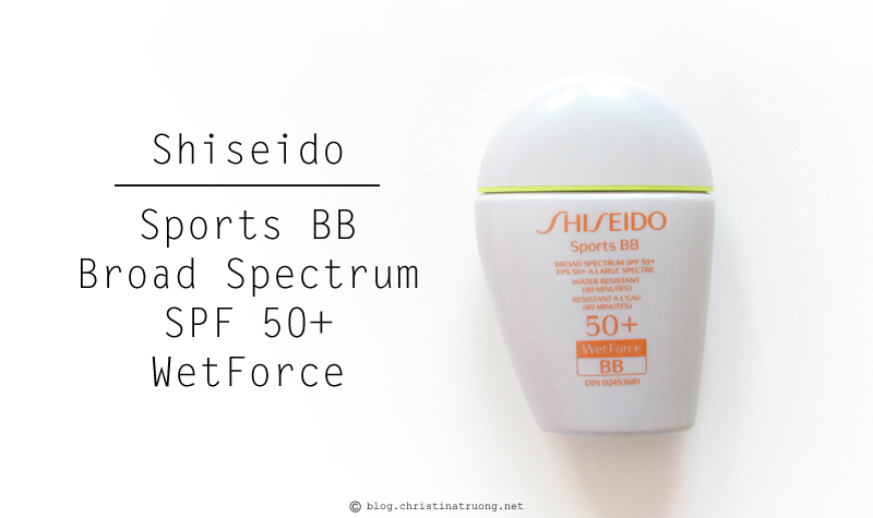 Shiseido S.O.S. (Save Our Skin) Kit featuring Shiseido Sports BB Broad Spectrum SPF 50+ WetForce in Dark Review