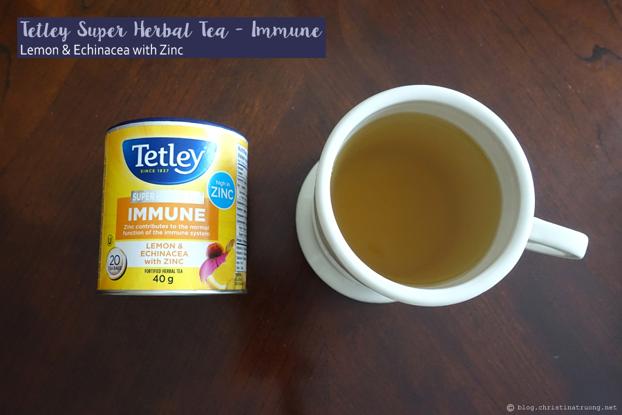 Tetley Super Herbal Tea Immune - Lemon and Echinacea with Zinc Review