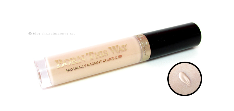 Too Faced Born This Way Naturally Radiant Concealer in Light Review and Swatch