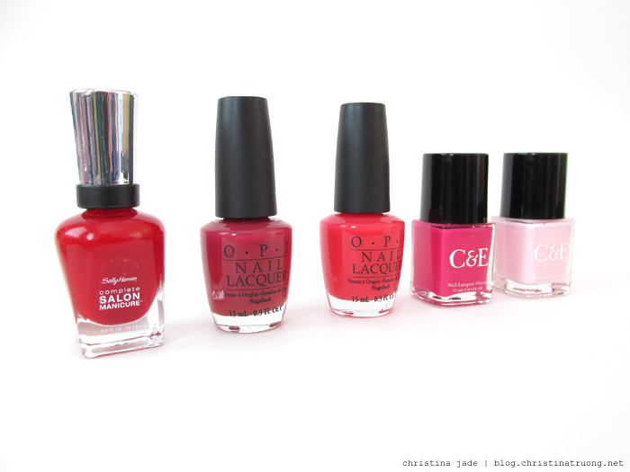Valentine Beauty Makeup Cosmetics Nail Polish Sally Hansen, OPI, Crabtree & Evelyn