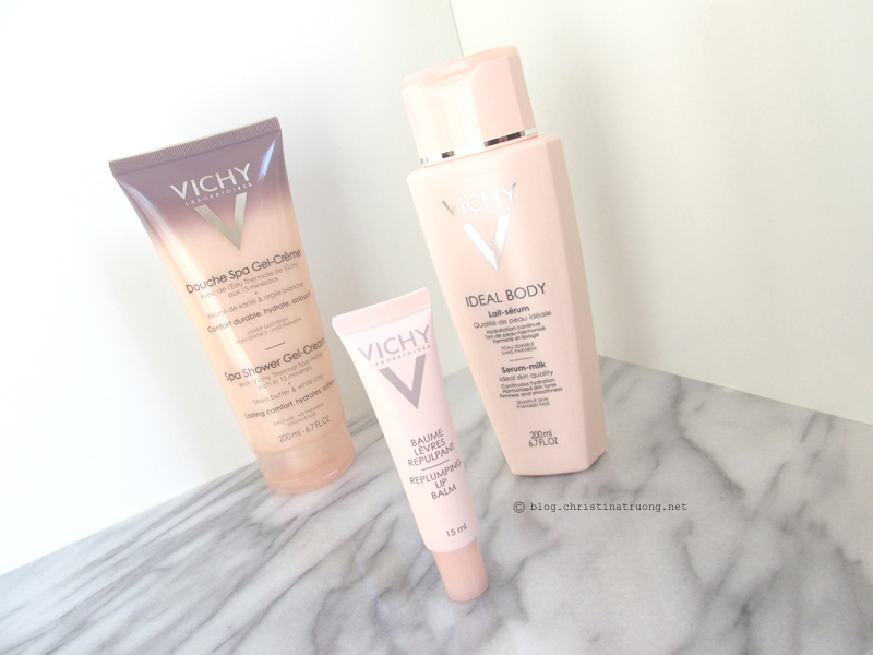 Vichy Ideal Body Care: Spa Shower Gel-Cream, Body Serum Milk, Replumping Lip Balm First Impression Review