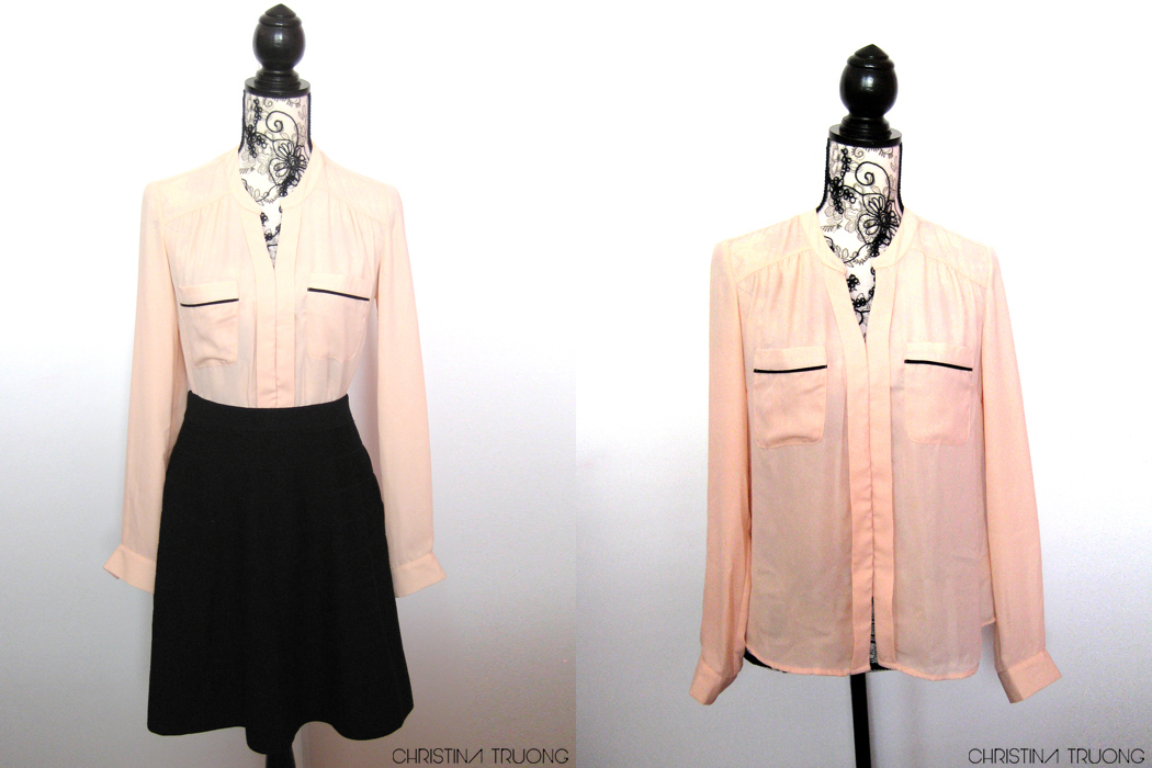 Winners Outfit Haul Challenge Fab Find Style Fashion - Olive & Oak Pink Blouse
