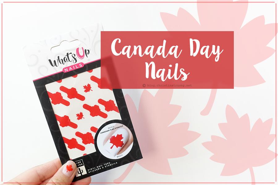 Canada Day Nails. Nail Polish Canada Whats Up Nails Canadian Flag Sticker Stencil Vinyl Nail Tape