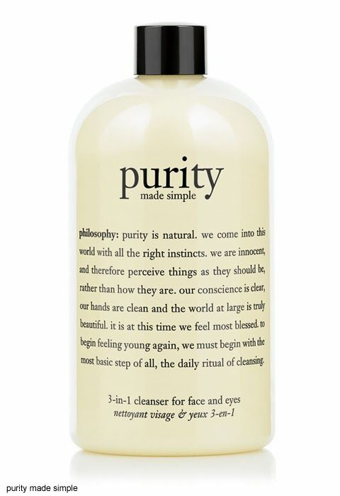 My Favourite: Cleanser. Philosophy's Purity Made Simple 3 in 1 Cleanser For Face and Eyes Review