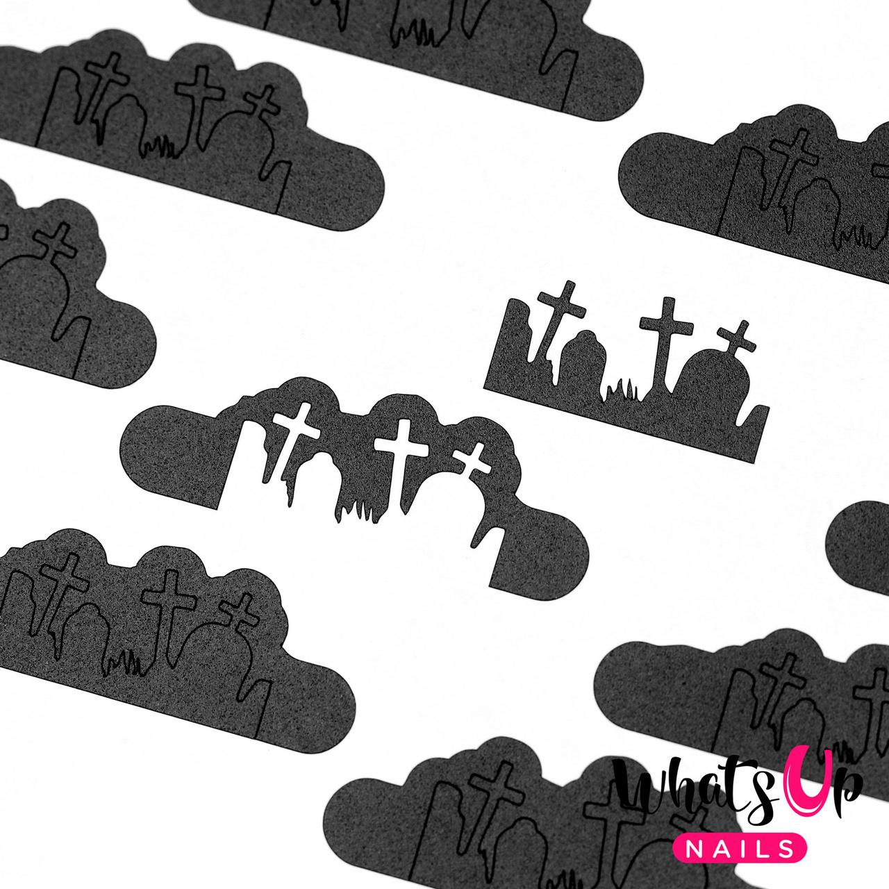 Halloween Nails. Nail Polish Canada Whats Up Nails Graveyard Nail Vinyls