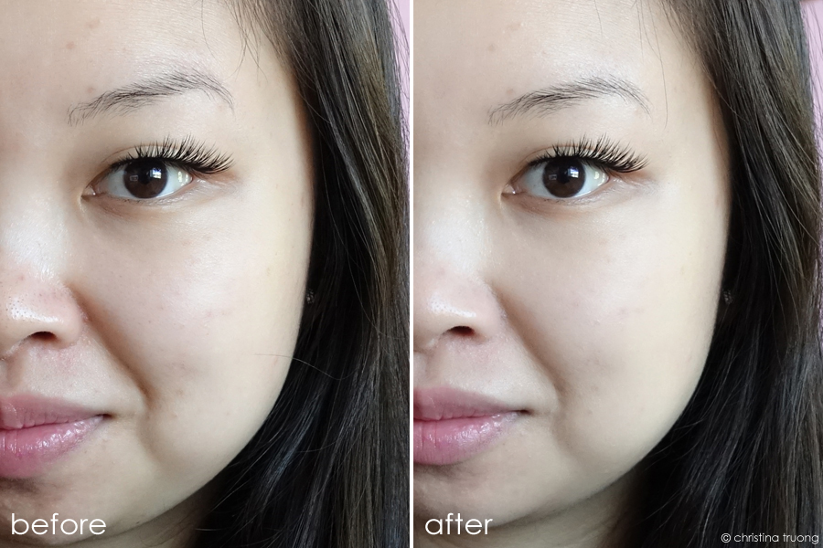NYX Bare With Me Tinted Skin Veil Vanilla Nude BWMSV02 Before After Review