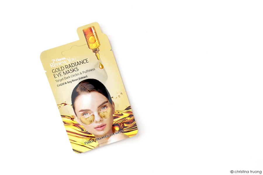 Farleyco Beauty 7th Heaven Renew You Gold Collagen Radiance Eye Masks Review