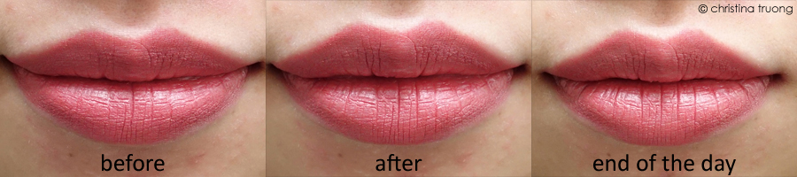 Farleyco Beauty Lips By Modele Sealed Lip Sealer Review Before After End of Day