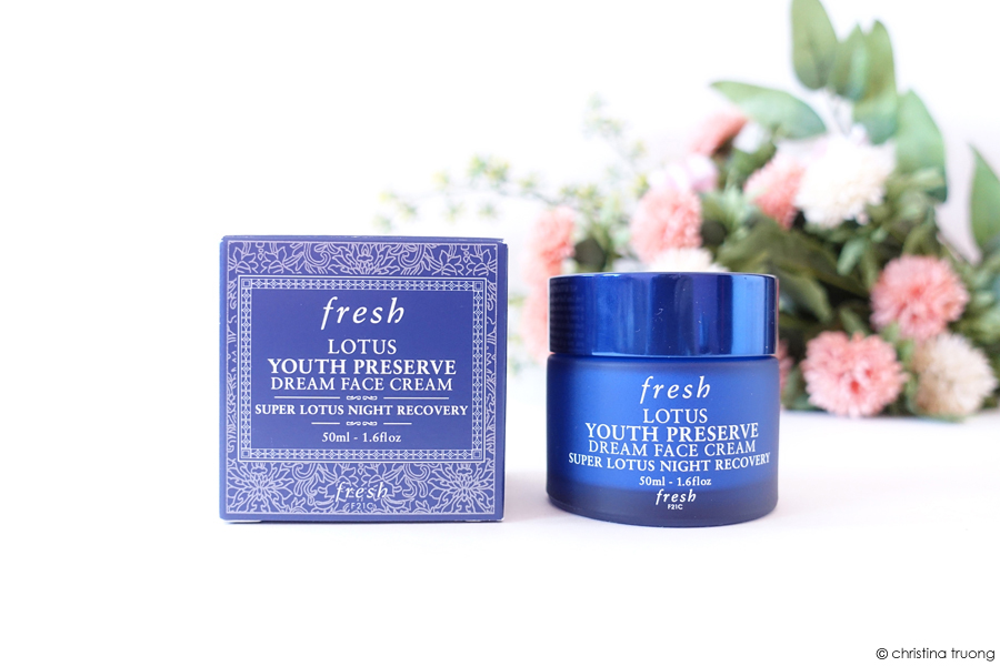 Fresh Lotus Youth Preserve Dream Face Cream Super Lotus Night Recovery Review