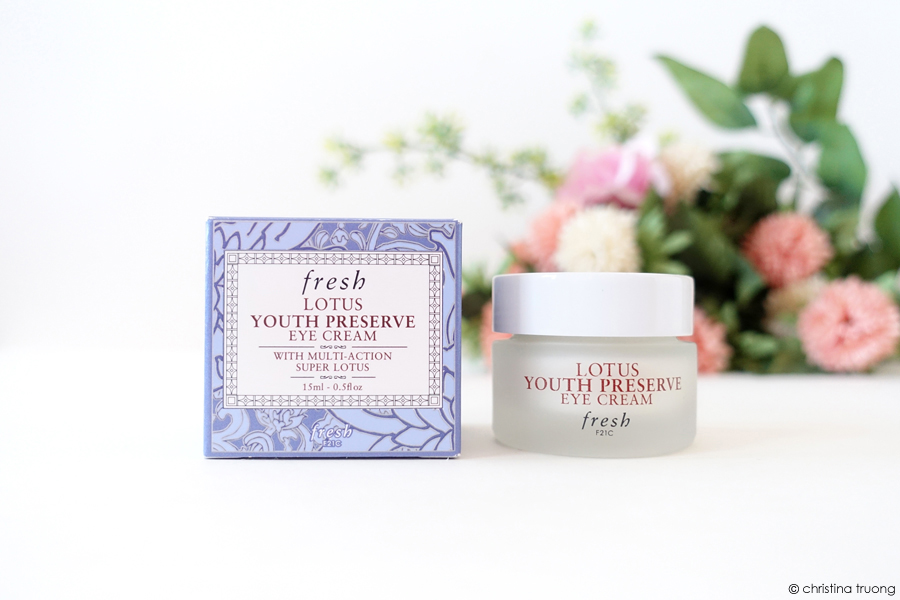 Fresh Lotus Youth Preserve Eye Cream With Multi-Action Super Lotus Review