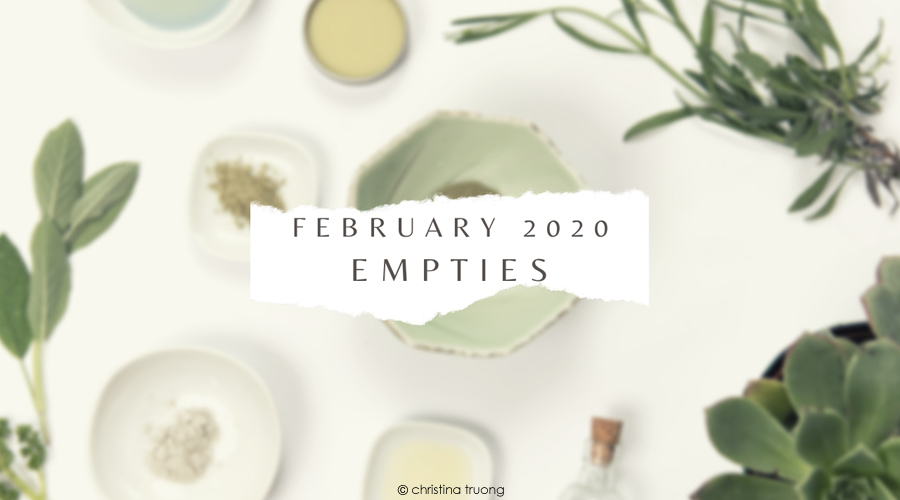 February 2020 Empties featuring Makeup Hair and Skin Care Products