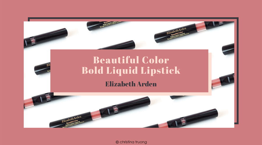 Elizabeth Arden Beautiful Color Bold Liquid Lipstick 08 Passionate Peach Review