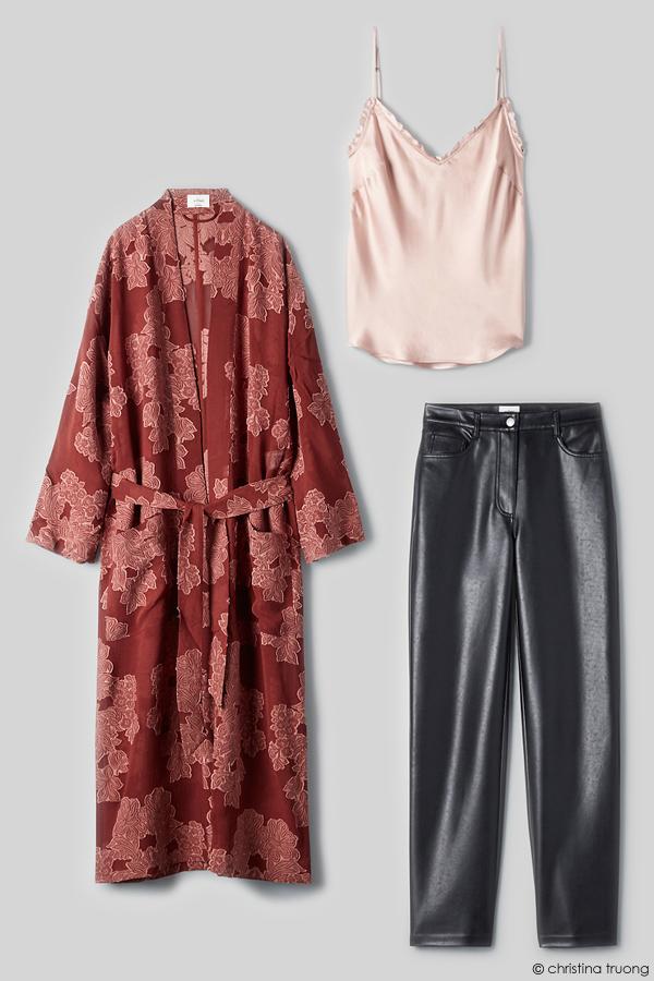 Valentine Style Fashion Lookbook Aritzia Wilfred Durante Jacket Melina Pant Ruffle Camisole