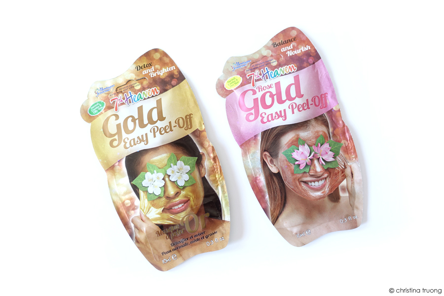 7th Heaven Metallic Gold Rose and Gold Easy Peel Off Mask Review