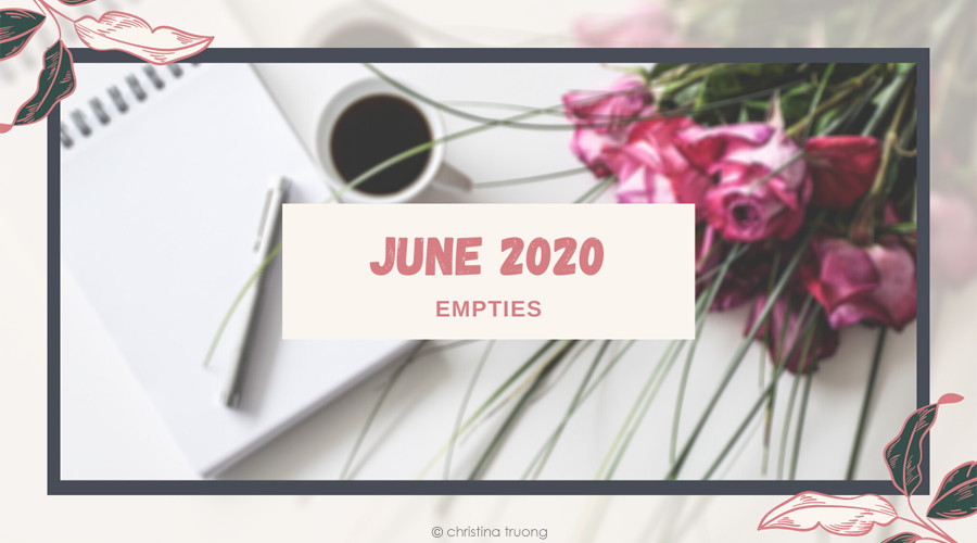 June 2020 Empties Hair and Skin Care Products