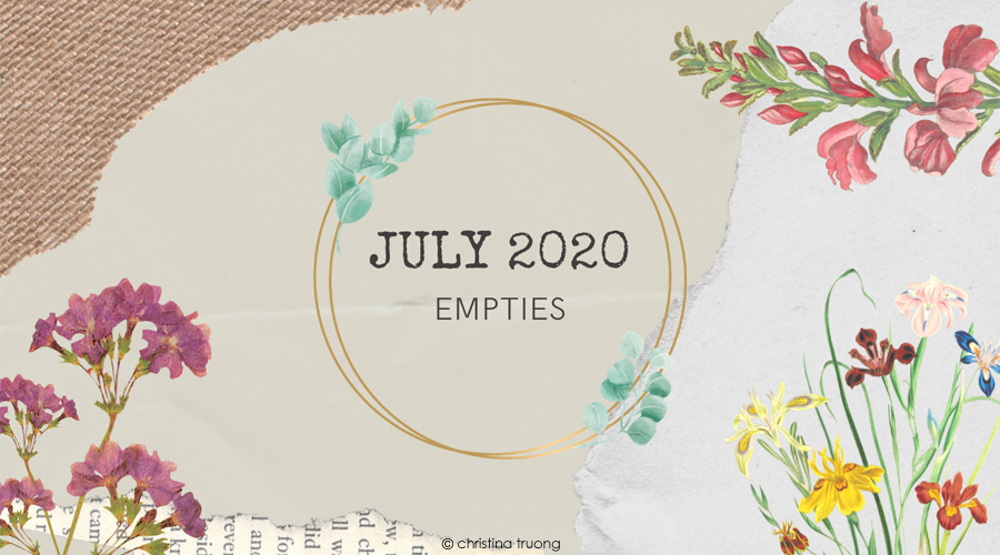 July 2020 Empties Hair Care Makeup Products