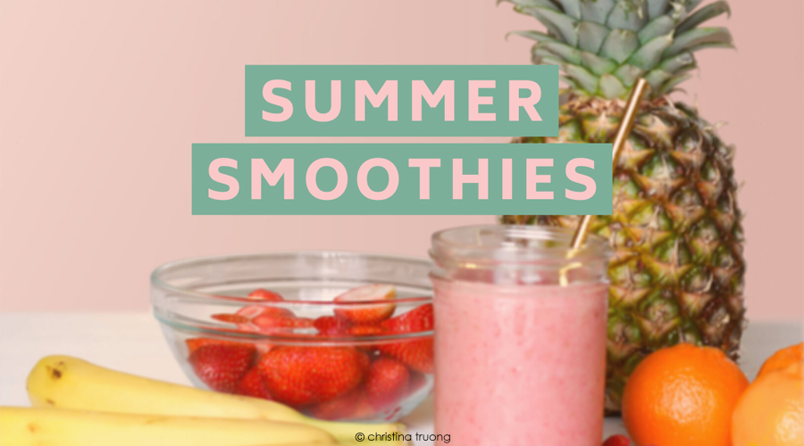 Five Healthy Delicious Simple Summer Smoothie Drinks Recipes
