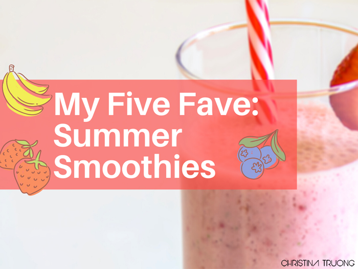 Five Simple Summer Smoothie Recipes