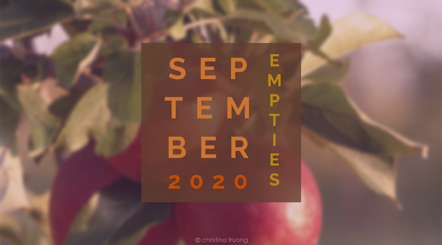 September 2020 Empties Hair and Skin Care Products