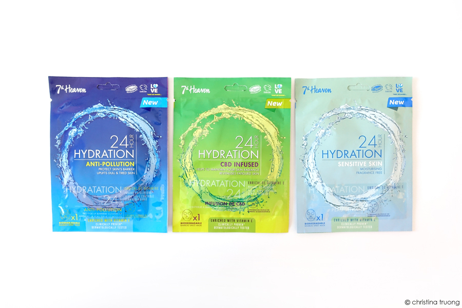 7th Heaven 24 Hour Hydration Anti-Pollution CBD Infused Sensitive Skin Masks Review