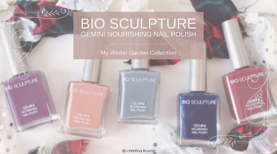 Bio Sculpture My Winter Garden Gemini Nourishing Nail Polish Collection Review Swatch