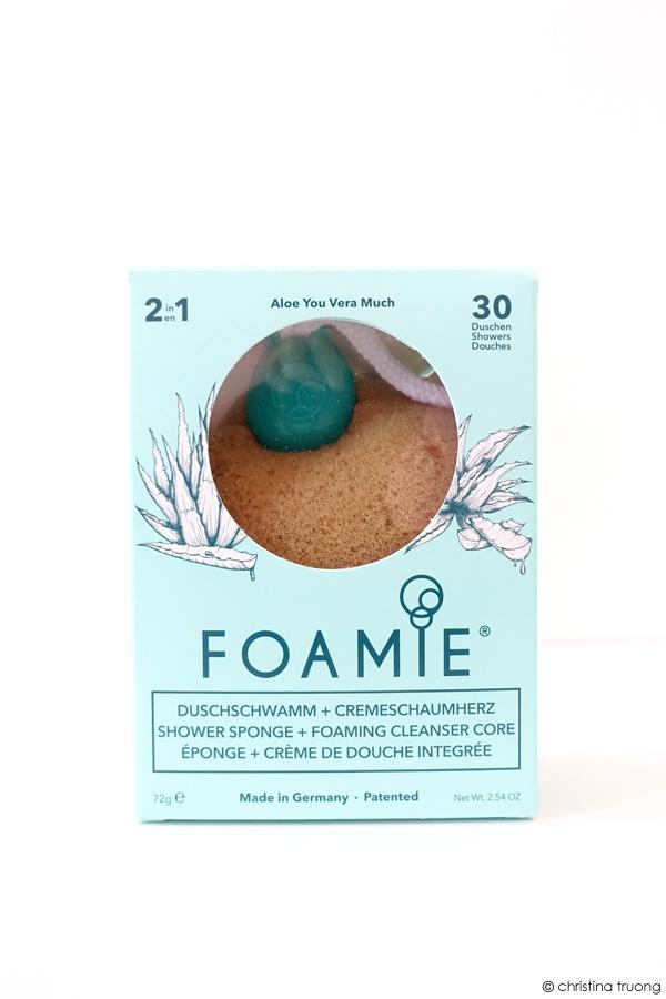 Foamie Shower Sponge Foaming Cleanser Core Aloe You Vera Much Review