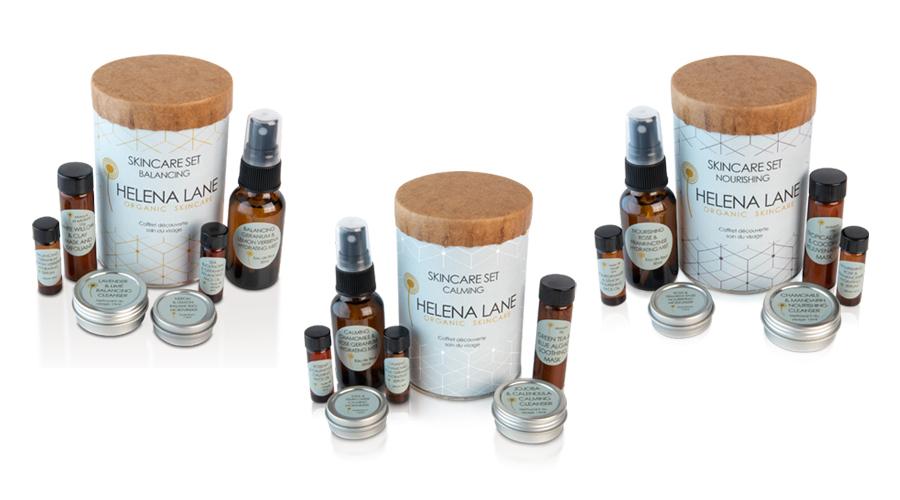 Helena Lane Organic Skincare Balancing Calming Nourishing Gift Set