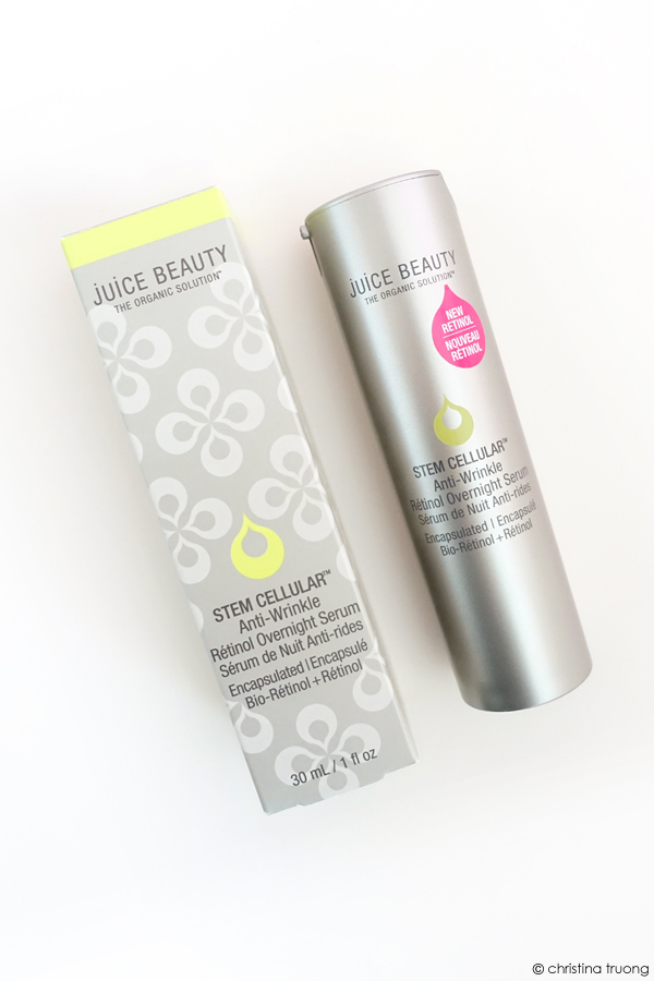 Juice Beauty Stem Cellular Anti Wrinkle Retinol Overnight Serum Skincare Review