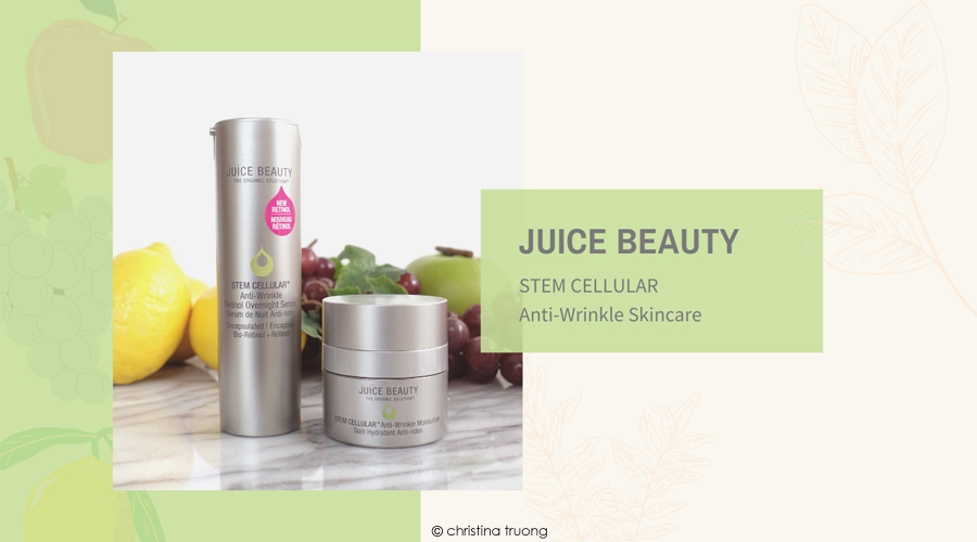 Juice Beauty Stem Cellular Anti Wrinkle Retinol Overnight Serum and Moisturizer Skincare Review