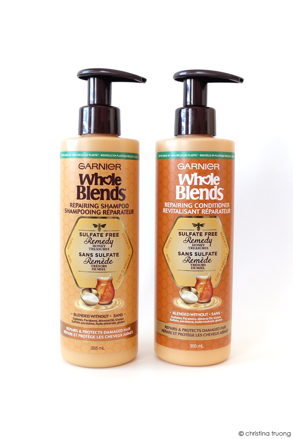 Garnier Whole Blends Repairing Shampoo and Conditioner Sulfate-Free Remedy Honey Treasures Review