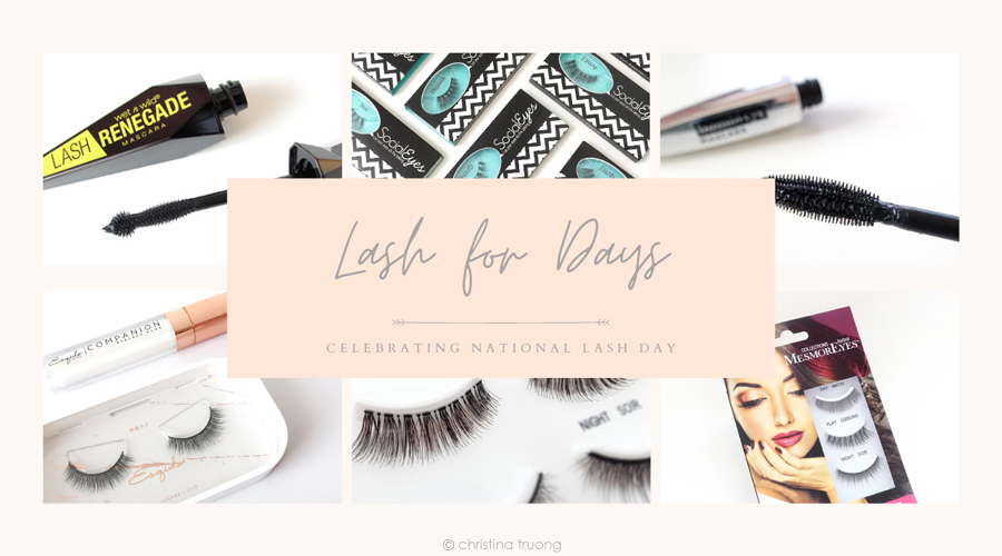 February 19 National Lash Day - Favourite False Eyelashes and Mascaras