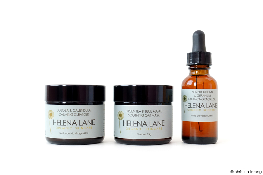 Helena Lane Organic Skincare Cleanser Mask Facial Oil Review