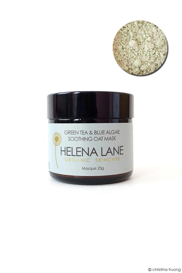 Helena Lane Organic Skincare Green Tea and Blue Algae Soothing Oat Mask Review