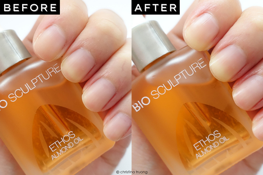 Bio Sculpture ETHOS Almond Oil Nail Treatment Before After