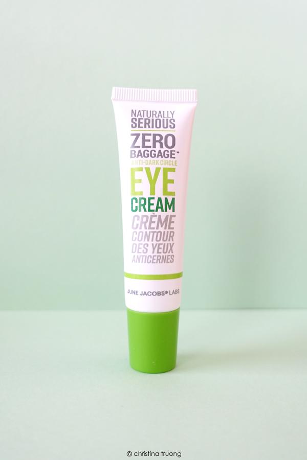 Naturally Serious Skincare Zero Baggage Anti Dark Circle Eye Cream Review